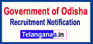 Government of Odisha Recruitment Notification 2017