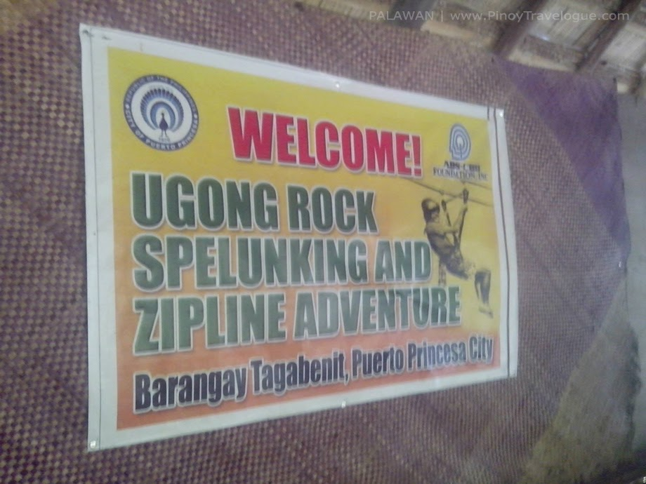 Welcome signage of Ugong Rock Adventures