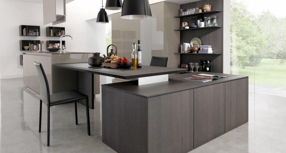 Estantes para equipar las paredes de la cocina cocinas - Cocinas islas modernas ...