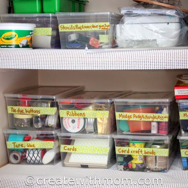 organizing the home craft space