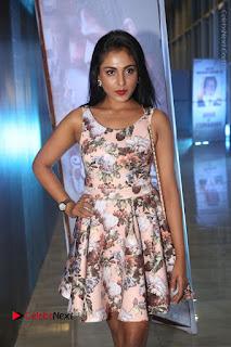 Actress Madhu Shalini Stills in Floral Short Dress at RGV Shiva to Vangaveeti Event  0018.JPG