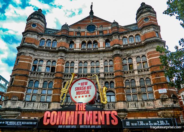 """Musical """"The Commitments"""" em um teatro de Londres"""