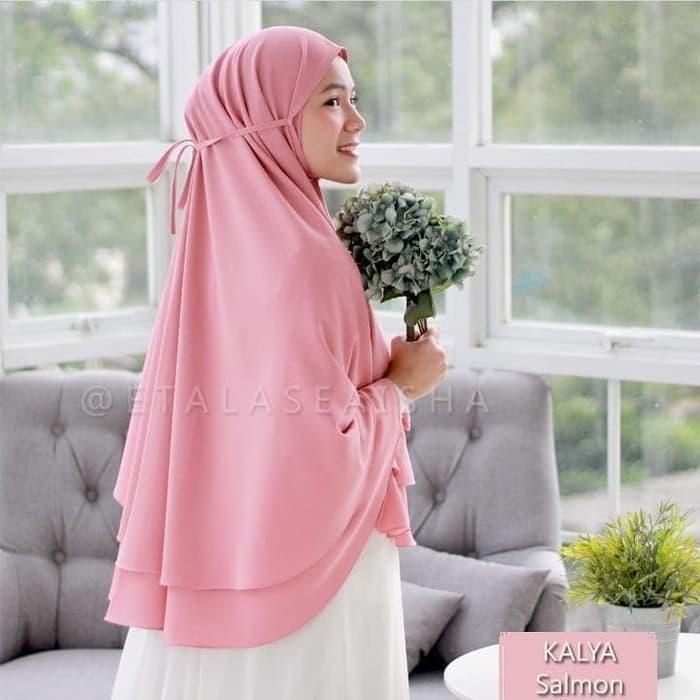 Jilbab Kerudung Khimar Kayla Syari Layer Jumbo Terbaru Murah