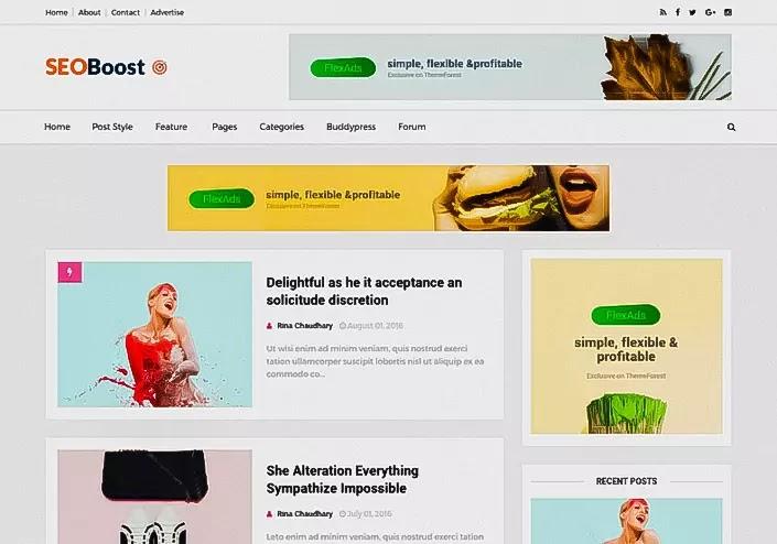 Seo Boost - SEO optimized and adsense friendly blogger template