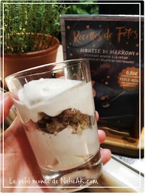 Recette de fête Vapiano/Perce-Neige :  Mousse di marroni