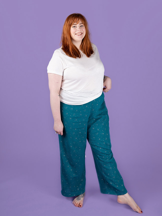 Jaimie pyjama bottoms and shorts sewing pattern by Tilly and the Buttons