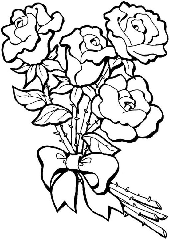 Gambar Mewarnai Bunga MatahariMawarTulipMelati  gambar