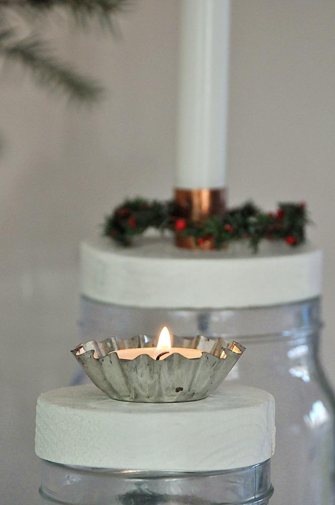 DIY Weinachten Kerzenhalter selber machen