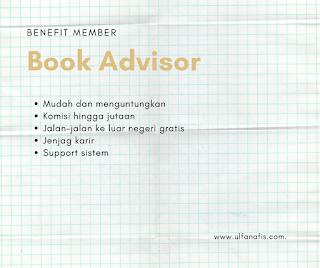benefit menajdi member book advisor
