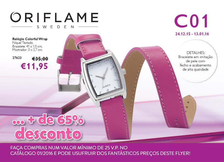 Flyer do Catálogo 01 de 2016 da Oriflame