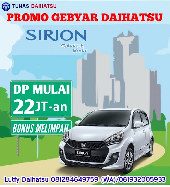 Promo Mobil Daihatsu Sirion Cicilan Murah Jakarta dan Bekasi