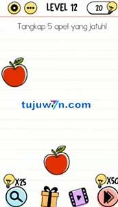 brain test tangkap 5 apel yang jatuh