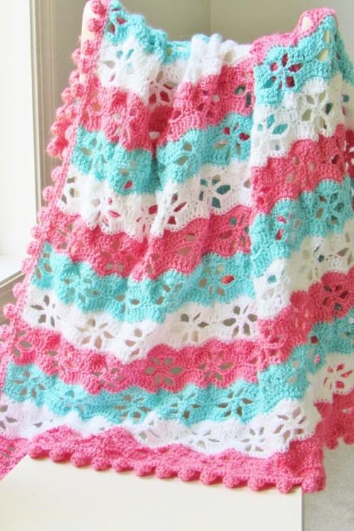 Twinkling Stars Blanket - Crochet Blanket Free Pattern