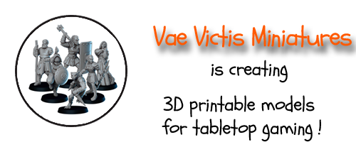 Vae Victis Miniatures are creating 3D printable models for tabletop gaming !