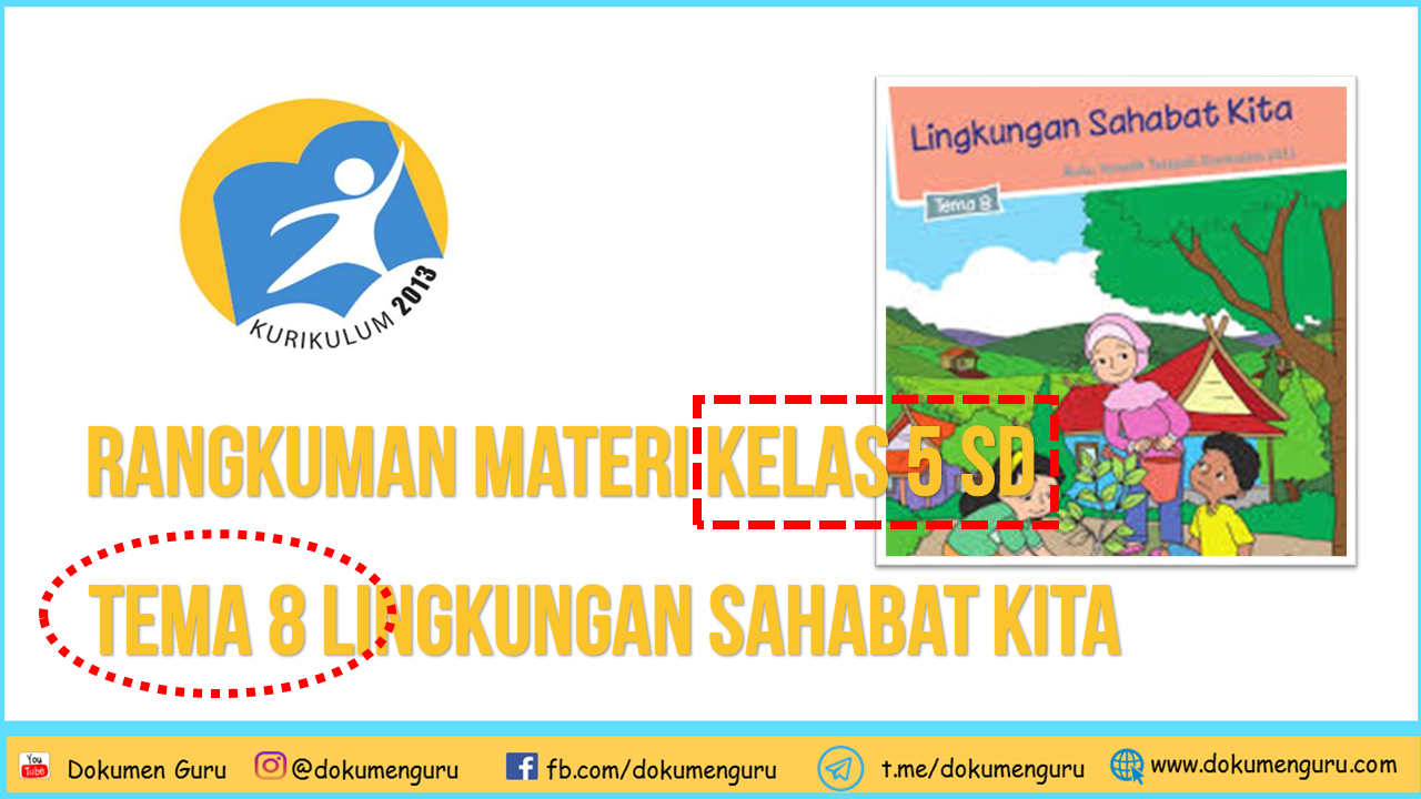 Rangkuman Materi Kelas 5 SD Tema 8 Lingkungan Sahabat Kita