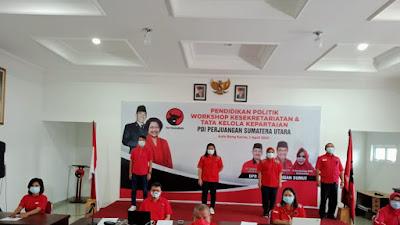 DPD PDIP Sumut Laksanakan Sekolah Politik Sekretaris dan Kesekretariatan