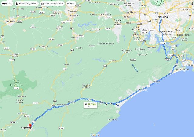 Via Litoral Santos – Imigrantes até a BR 101