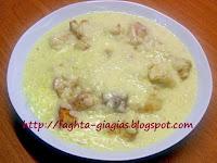 Τραχανάς σούπα, με γάλα, φέτα και τριμμένο ψωμί - by https://syntages-faghtwn.blogspot.gr