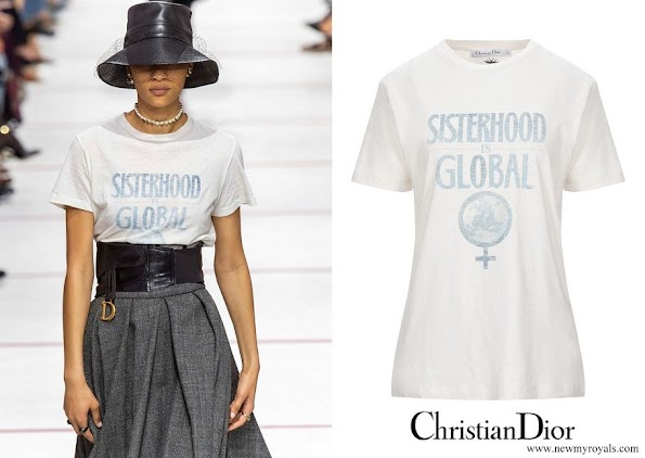 Beatrice Borromeo wore Christian Dior sisterhood is global t shirt