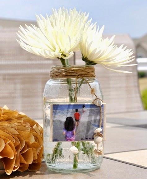 Beach Memory Jar Vase