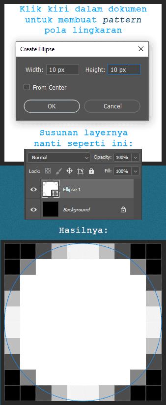 Cara membuat pola Pattern lingkaran di Photoshop