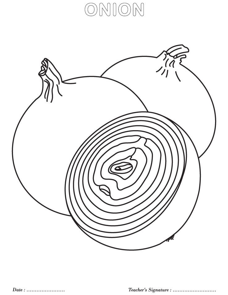 Onions Coloring Pages To Kids