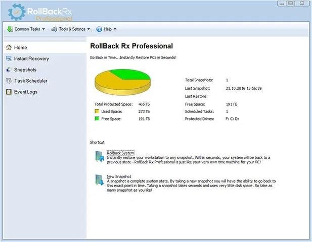 تحميل برنامج Reboot Restore Rx Pro 11.2 لاستعادة النظام إلى حالته السابقة