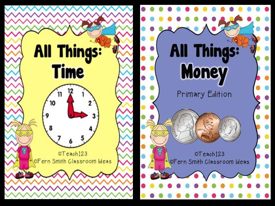 http://www.teacherspayteachers.com/Product/Time-and-Money-Math-and-Literacy-Lessons-Bundle-562745