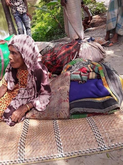 মনোহরগঞ্জ প্রবাসী ছেলের  বিশাল অট্টালিকা গর্ভবতী  মায়ের জায়গা হয়নি