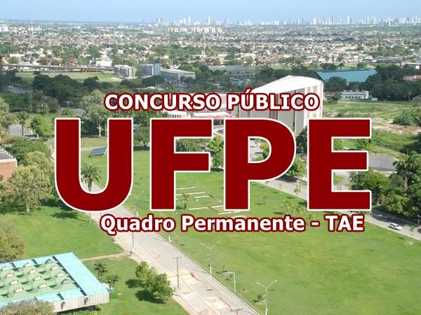 inscrições Concurso da UFPE para 166 vagas de técnico administrativo