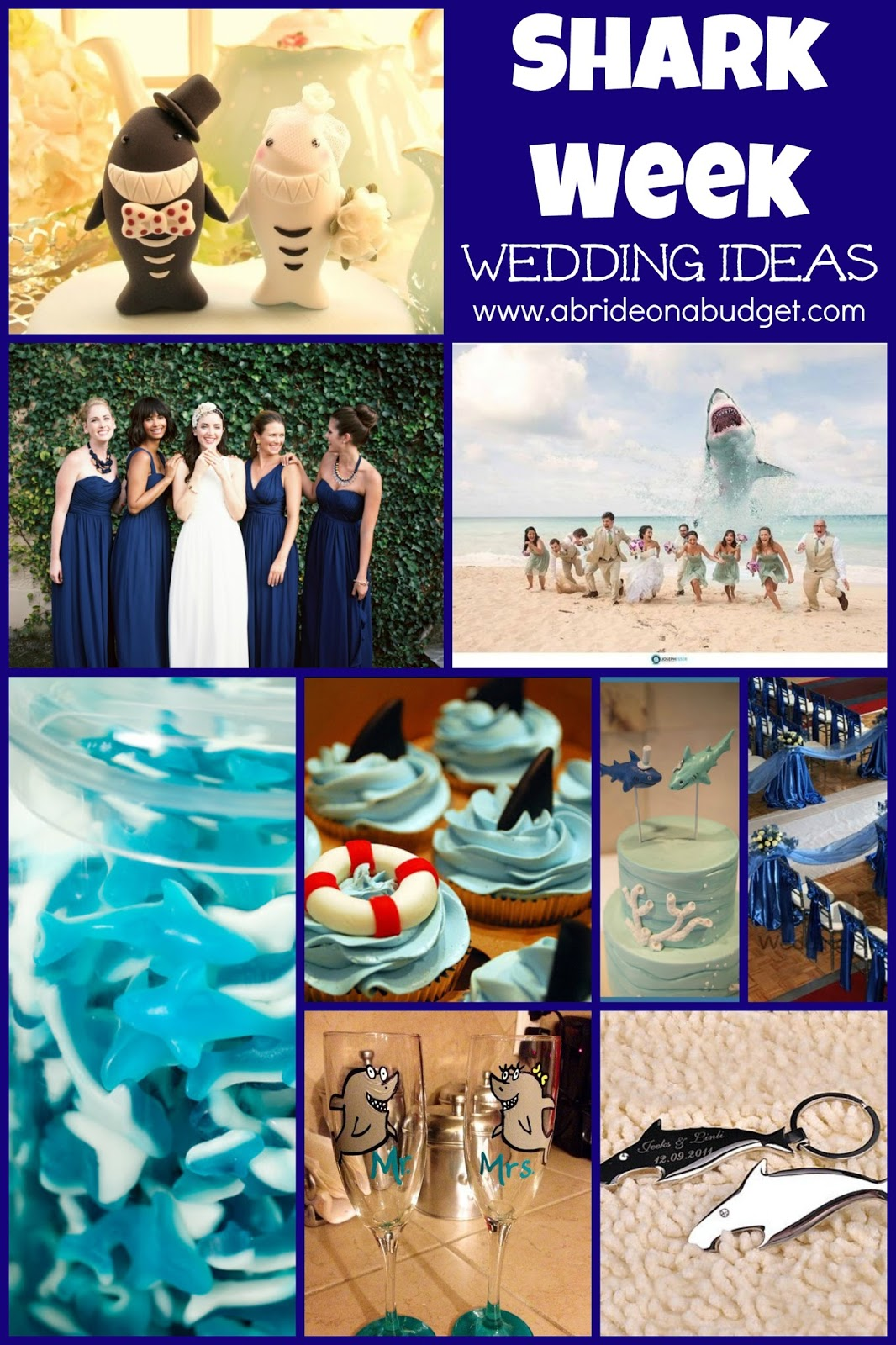 If you're excited about Discovery's Shark Week, you'll LOVE these Shark Week wedding ideas from www.abrideonabudget.com!