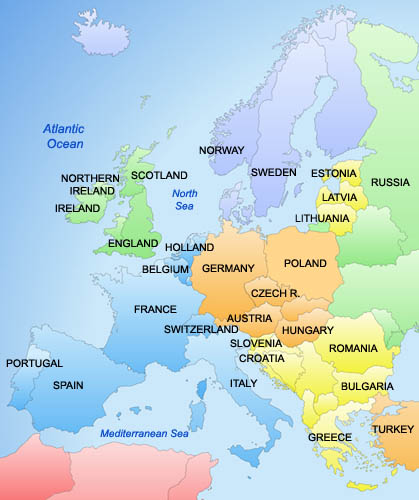 Karta Europa Portugal.April 2011 Karta Over Sverige Geografisk Fysisk Politiska