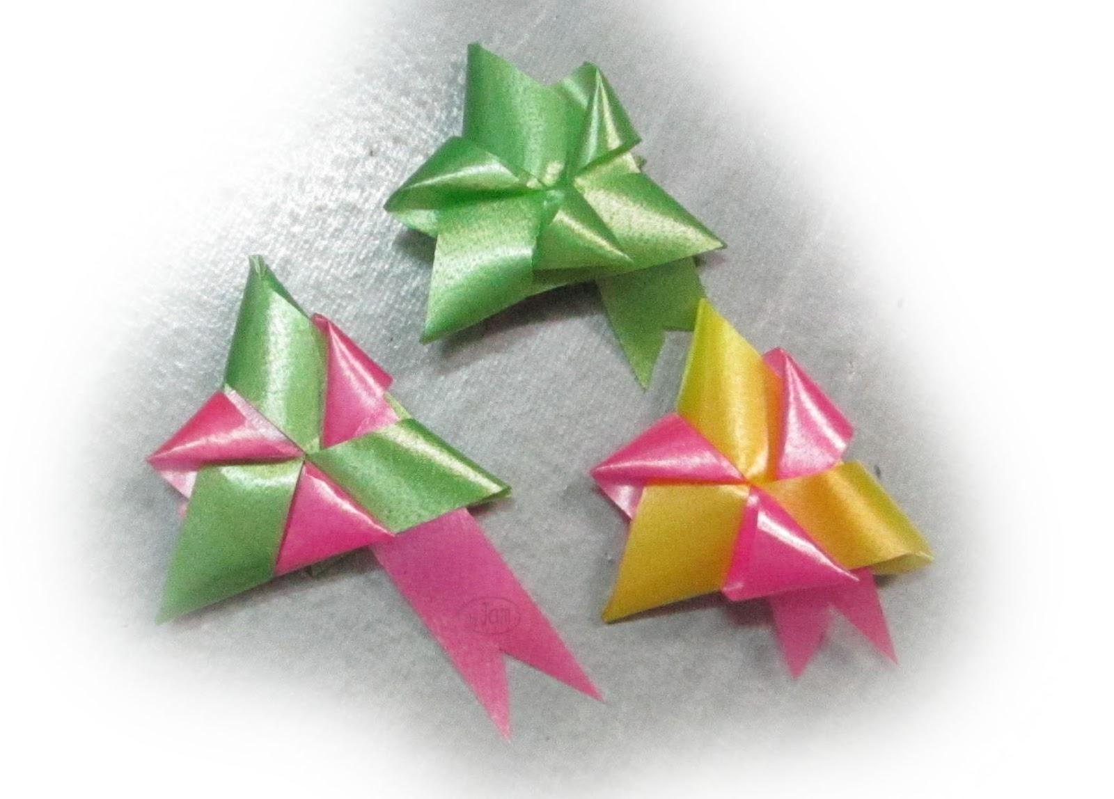 เหรียญโปรยทานสามเหลี่ยม ไตรรัตน์  วิธีพับเหรียญ  lucky coin holder  ribbon weaving craft