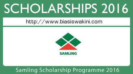 Samling Scholarship Programme 2016