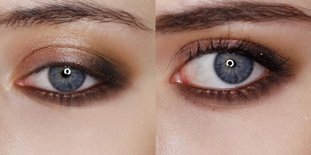 makijaż z błyskiem