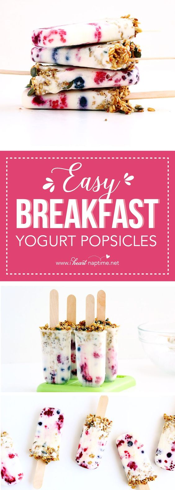 Easy Breakfast Yogurt Popsicles