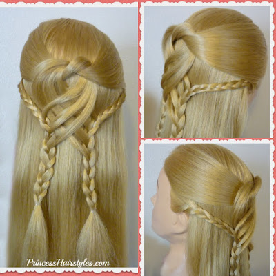 Pretty #promhairstyle! Swirling braids half up hairstyle tutorial.