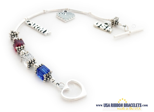 Red White & Blue Bracelet for Army Moms for Mother's Day