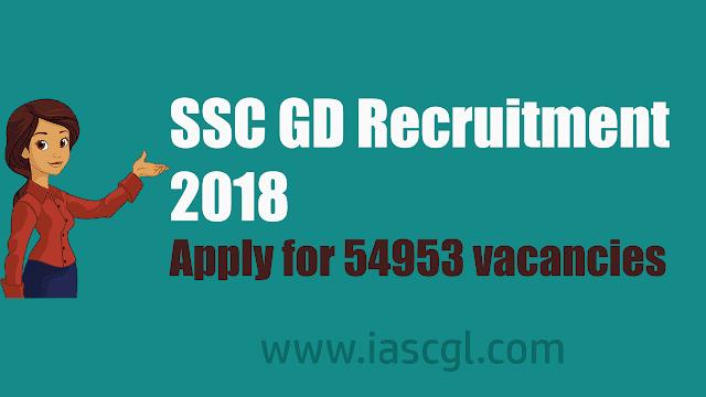 SSC Constable GD Recruitment 2018