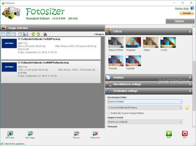 تحميل برنامج تصغير حجم الصور Fotosizer Standard Edition 3.0