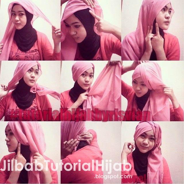 semuanya aku kembali menawarkan tutorial hijab Tutorial Hijab Paris Segi Empat