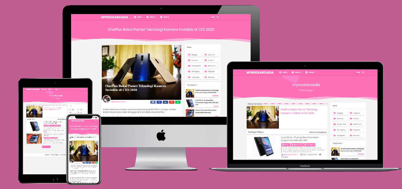 Viomagz Pink Redesign Responsive Blogger Template