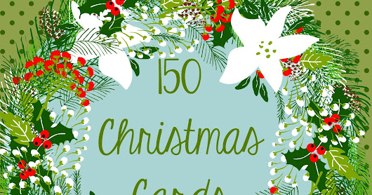 Over 150 Christmas Cardsmade using the Cricut