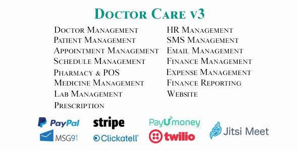 Doctor Care v3 - Diagnostic Center / Doctors Chamber Management System nulled