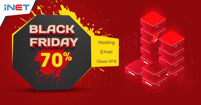 Khuyến mãi Black Friday 70% hosting, email, vps tại iNET