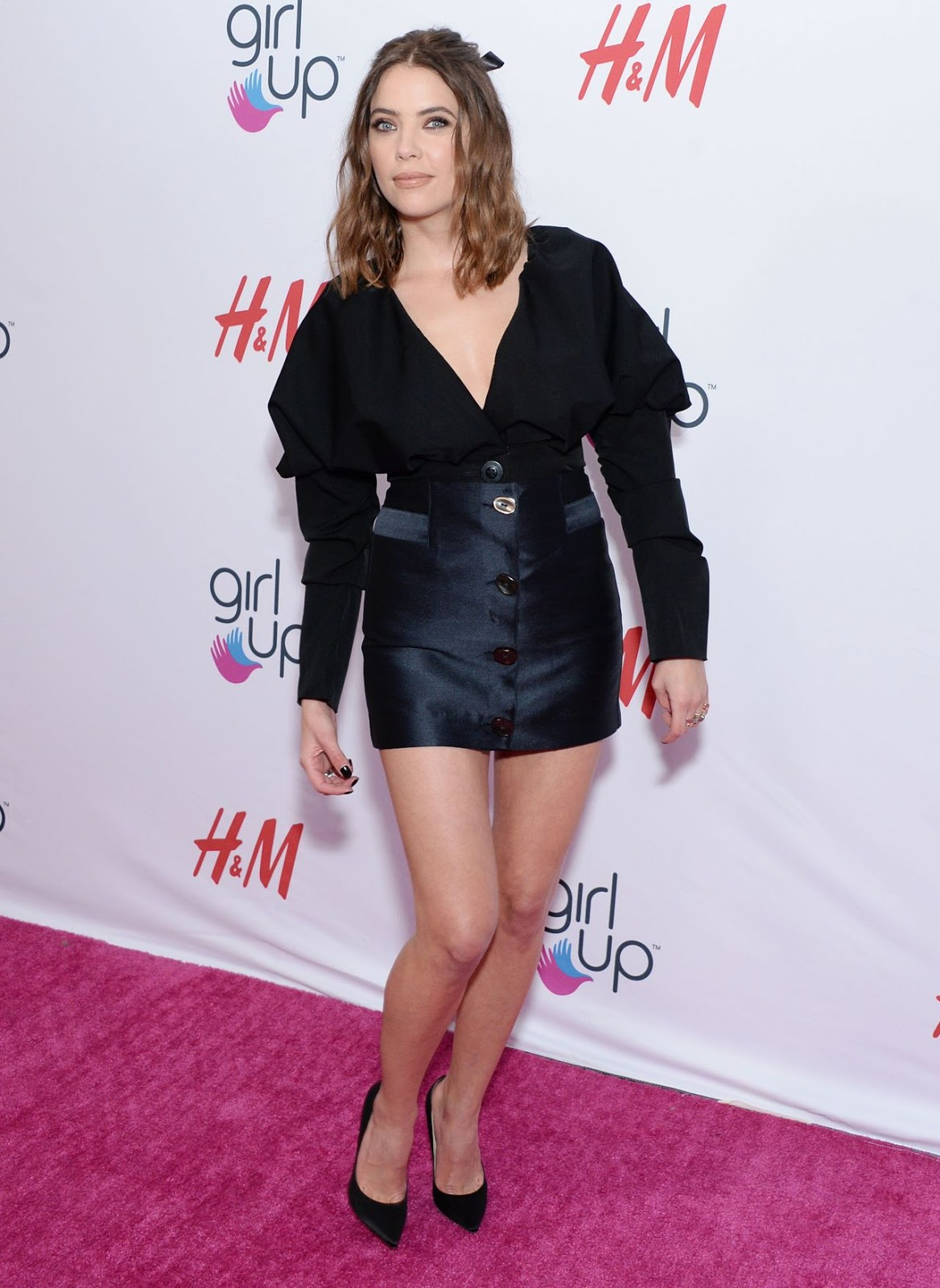 Ashley Benson flaunts short skirt at the 2019 Girl Up #GirlHero Awards