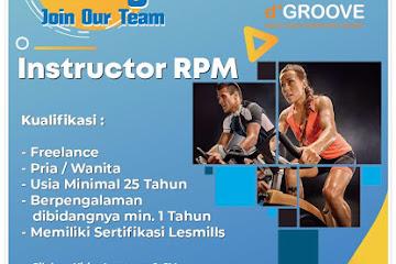 Lowongan Kerja Bandung Instructor RPM dGroove Sports
