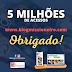 5 milhões de acessos no Blog Missioneiro