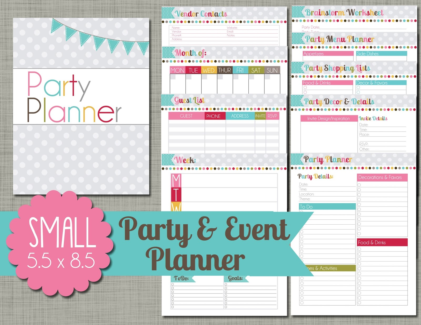 The polka dot posie planners for Event planning ideas parties
