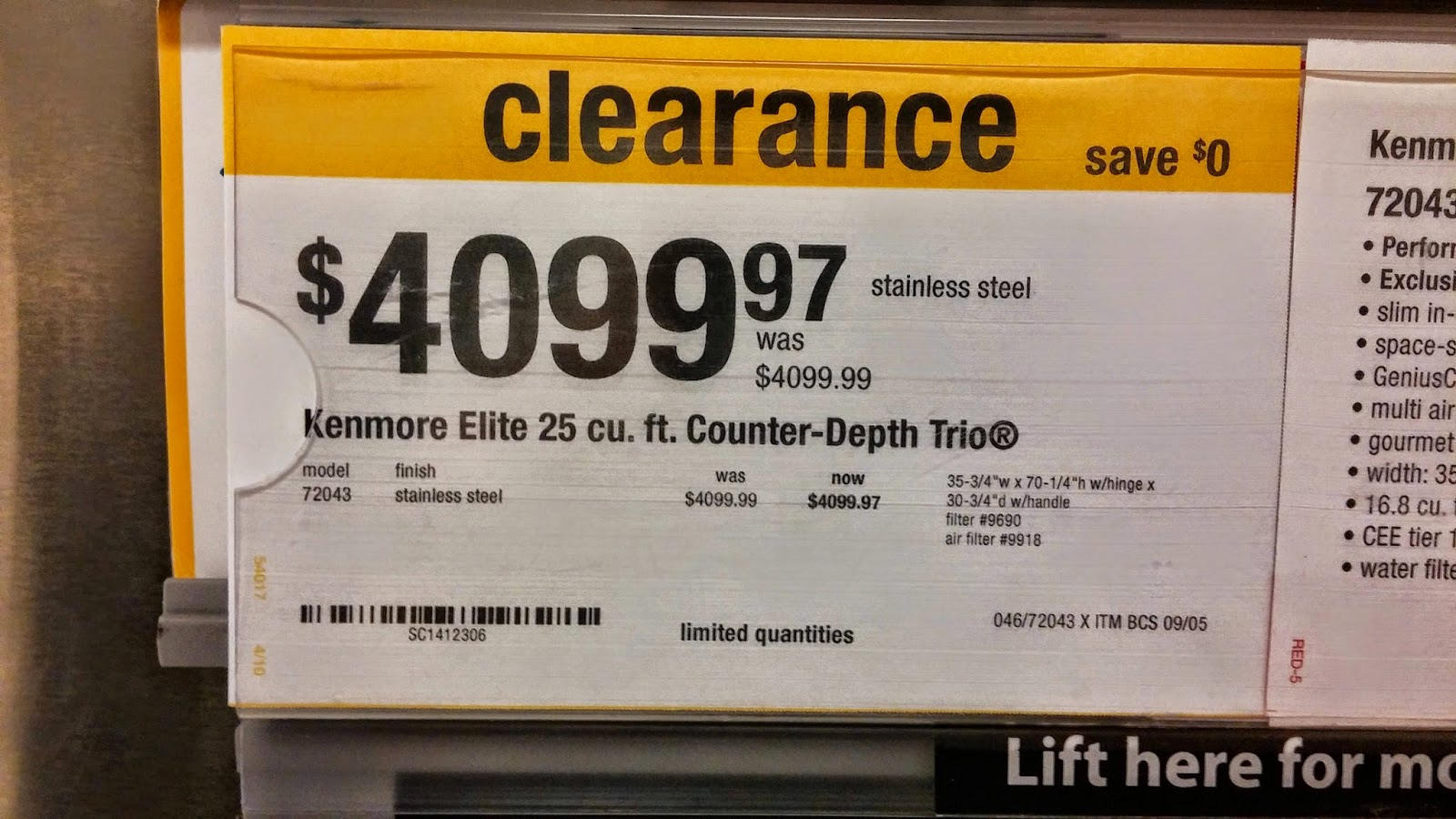Funny Clearance Sale Sign Joke Picture
